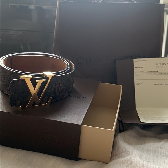 2de1cf5ea189 Louis Vuitton Accessories - Louis Vuitton monogram belt w box bag dustbag